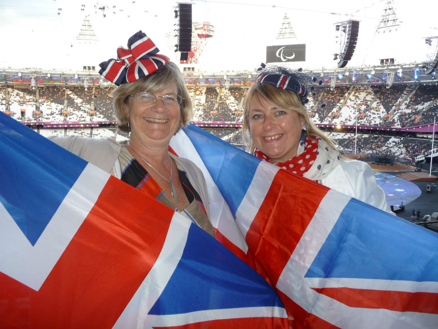 Lynn with PG's Jakki Brown at the London Olympics in 2012.
