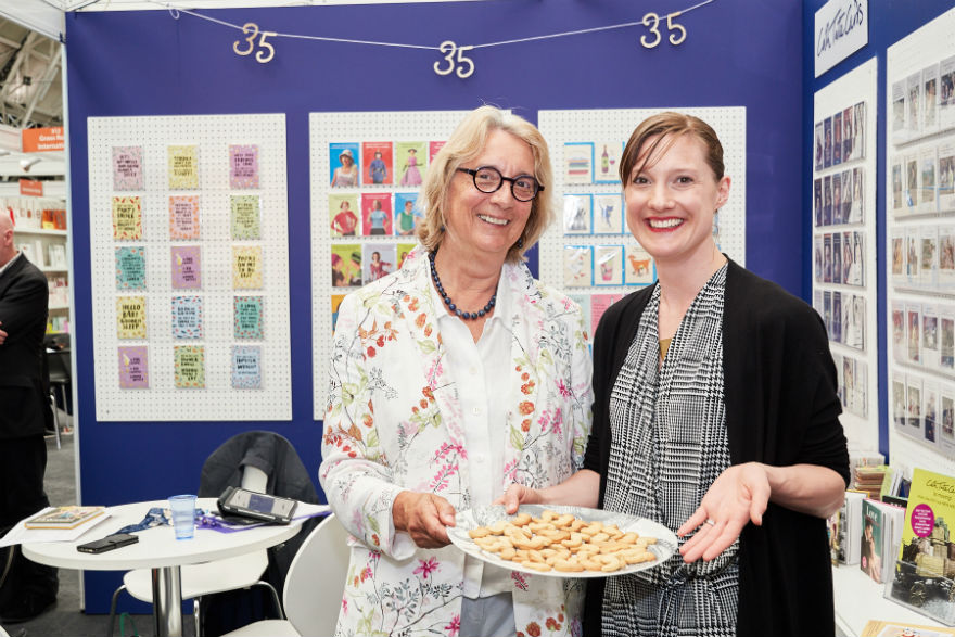 Cath and Rosie Tate celebrate 35 years on the Cath Tate stand
