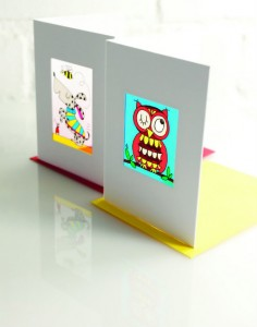 One of Rachel's favourite products is the 'stained glass' cards, now discontinued.