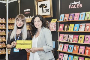 Leona with Pennie Bryant, co-owner of Tache.
