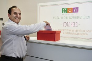 Raj Arora, md of Davora puts his vote in the ballot box.